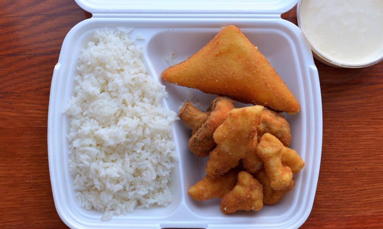 Vegatál rizzsel és tartárral